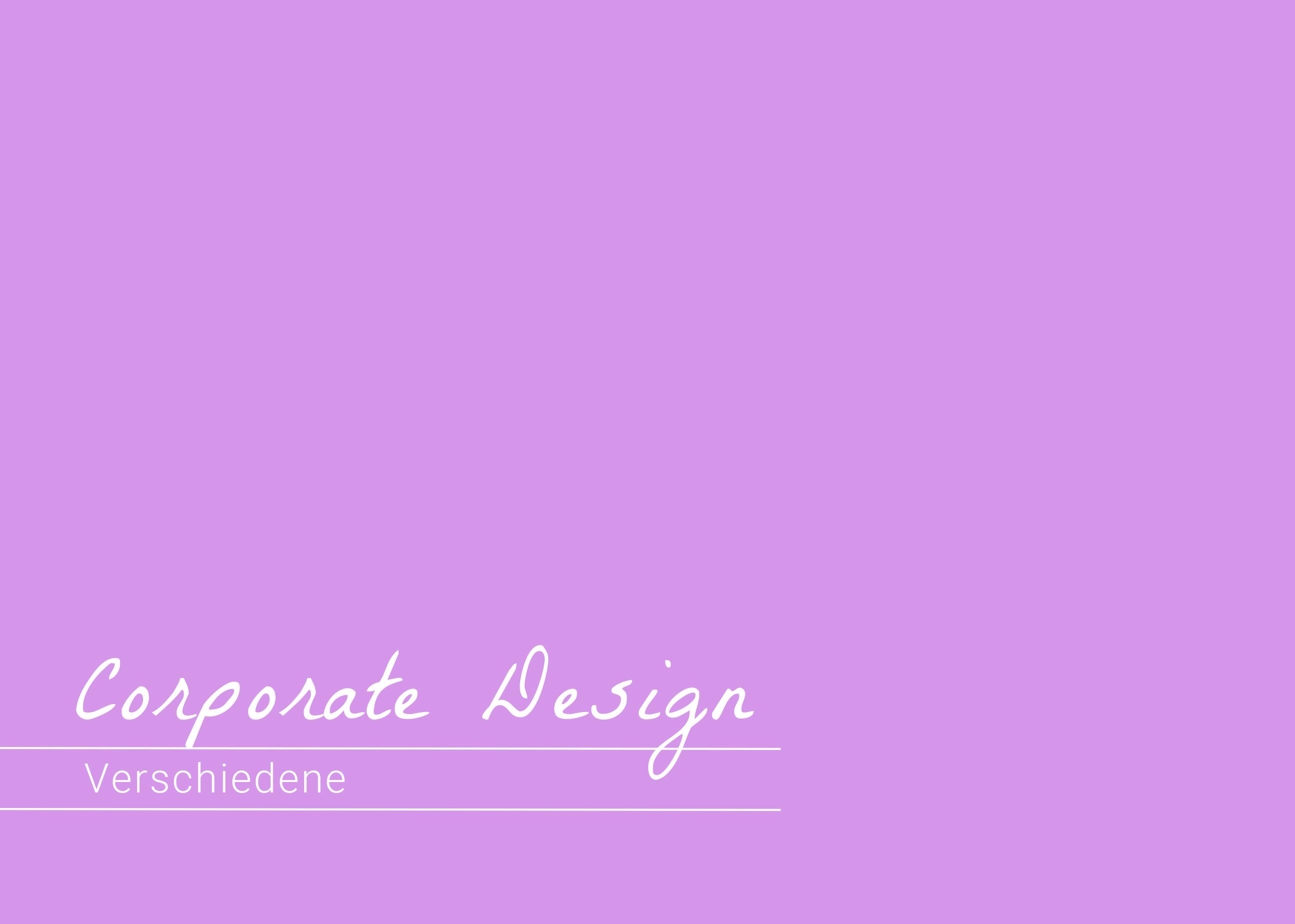 Corporate Design – Verschiedene