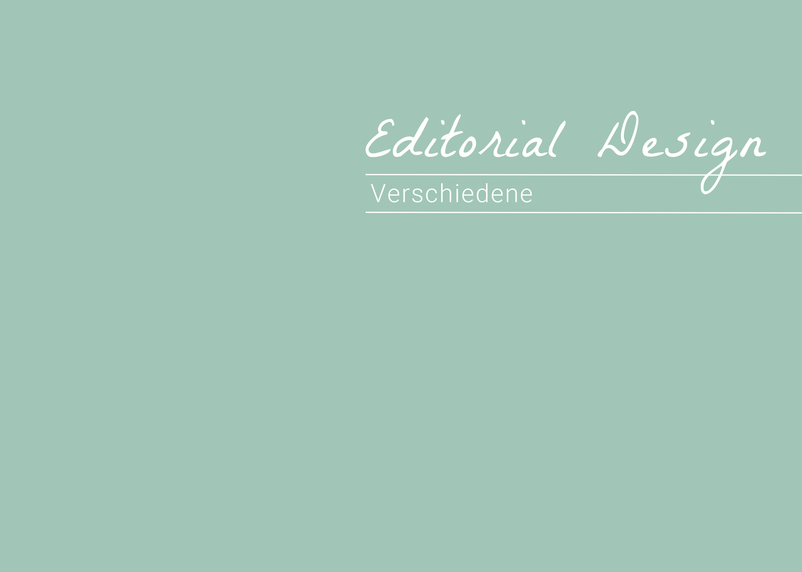 Editorial Design – Verschiedene